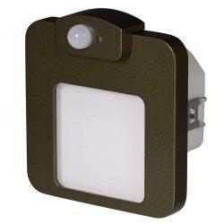 ZAMEL LEDES  Lépcső lámpa Beépíthető MOZA 230V Bronz keret Hideg fehér Beépített érzékelővel