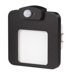 ZAMEL LEDES  Lépcső lámpa Beépíthető MOZA 230V Fekete keret Hideg fehér Beépített érzékelővel