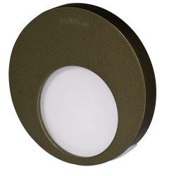 ZAMEL LEDES  Lépcső lámpa Beépíthető MUNA 14V Bronz keret Hideg fehér