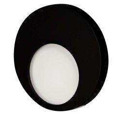 ZAMEL LEDES  Lépcső lámpa Beépíthető MUNA 14V Fekete keret Hideg fehér