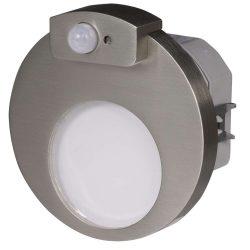 ZAMEL LEDES  Lépcső lámpa Beépíthető MUNA 230V Inox keret Meleg fehér Beépített érzékelővel