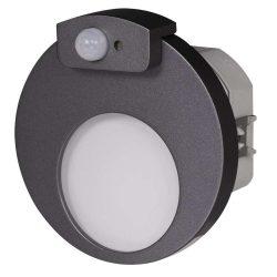 ZAMEL LEDES  Lépcső lámpa Beépíthető MUNA 230V Grafit keret Meleg fehér Beépített érzékelővel