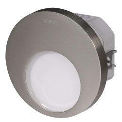 ZAMEL LEDES  Lépcső lámpa Beépíthető MUNA 230V Inox keret Hideg fehér