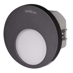 ZAMEL LEDES  Lépcső lámpa Beépíthető MUNA 230V Grafit keret Hideg fehér