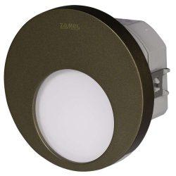 ZAMEL LEDES  Lépcső lámpa Beépíthető MUNA 230V Bronz keret Hideg fehér