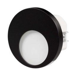 ZAMEL LEDES  Lépcső lámpa Beépíthető MUNA 230V Fekete keret Hideg fehér