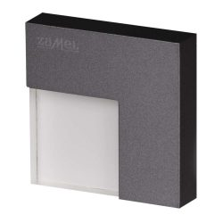 ZAMEL LEDES  Lépcső lámpa TICO 14V Grafit keret nélküli Hideg fehér
