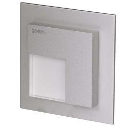 ZAMEL LEDES  Lépcső lámpa Beépíthető TIMO 14V Alumínium keret Hideg fehér