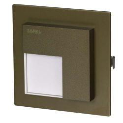 ZAMEL LEDES  Lépcső lámpa Beépíthető TIMO 14V Bronz keret Hideg fehér