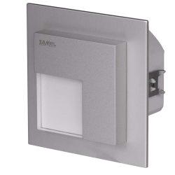 ZAMEL LEDES  Lépcső lámpa Beépíthető TIMO 230V Alumínium keret Hideg fehér