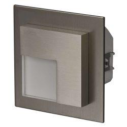 ZAMEL LEDES  Lépcső lámpa Beépíthető TIMO 230V Inox keret Hideg fehér