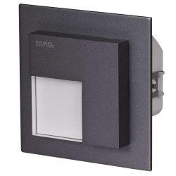 ZAMEL LEDES  Lépcső lámpa Beépíthető TIMO 230V Grafit keret Hideg fehér