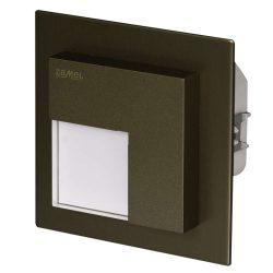 ZAMEL LEDES  Lépcső lámpa Beépíthető TIMO 230V Bronz keret Hideg fehér