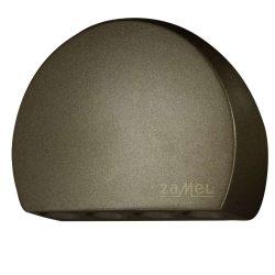 ZAMEL LEDES  Lépcső lámpa RUBI 14V Bronz keret nélküli Hideg fehér