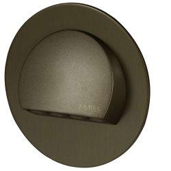 ZAMEL LEDES  Lépcső lámpa RUBI 14V Bronz keret Hideg fehér