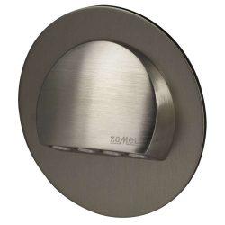 ZAMEL LEDES  Lépcső lámpa Beépíthető RUBI 14V Inox keret Hideg fehér