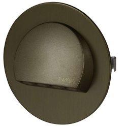 ZAMEL LEDES  Lépcső lámpa Beépíthető RUBI 14V Bronz keret Hideg fehér