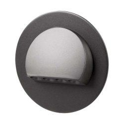 ZAMEL LEDES  Lépcső lámpa Beépíthető RUBI 14V Fekete keret Hideg fehér