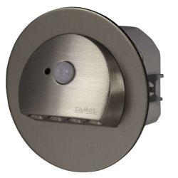 ZAMEL LEDES  Lépcső lámpa Beépíthető RUBI 14V Inox keret Hideg fehér Beépített érzékelővel