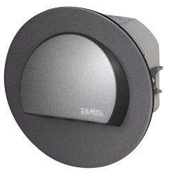 ZAMEL LEDES  Lépcső lámpa Beépíthető RUBI 230V Grafit keret Hideg fehér