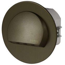 ZAMEL LEDES  Lépcső lámpa Beépíthető RUBI 230V Bronz keret Hideg fehér