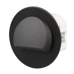 ZAMEL LEDES  Lépcső lámpa Beépíthető RUBI 230V Fekete keret Hideg fehér