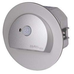 ZAMEL LEDES  Lépcső lámpa Beépíthető RUBI 230V Alumínium keret Hideg fehér Beépített érzékelővel