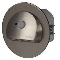 ZAMEL LEDES  Lépcső lámpa Beépíthető RUBI 230V Inox keret Hideg fehér Beépített érzékelővel