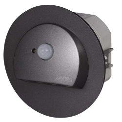 ZAMEL LEDES  Lépcső lámpa Beépíthető RUBI 230V Grafit keret Hideg fehér Beépített érzékelővel