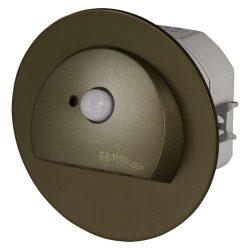 ZAMEL LEDES  Lépcső lámpa Beépíthető RUBI 230V Bronz keret Hideg fehér Beépített érzékelővel