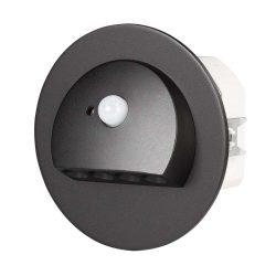 ZAMEL LEDES  Lépcső lámpa Beépíthető RUBI 230V Fekete keret Hideg fehér Beépített érzékelővel
