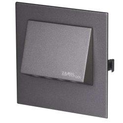 ZAMEL LEDES  Lépcső lámpa Beépíthető NAVI 14V Grafit keret Hideg fehér