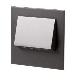 ZAMEL LEDES  Lépcső lámpa Beépíthető NAVI 14V Fekete keret Hideg fehér
