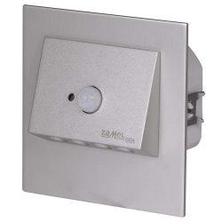 ZAMEL LEDES  Lépcső lámpa Beépíthető NAVI 14V Alumínium keret Hideg fehér Beépített érzékelővel
