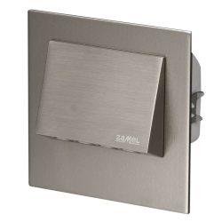 ZAMEL LEDES  Lépcső lámpa Beépíthető NAVI 230V Inox keret Hideg fehér