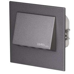 ZAMEL LEDES  Lépcső lámpa Beépíthető NAVI 230V Grafit keret Hideg fehér