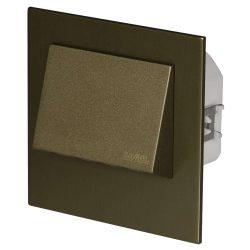ZAMEL LEDES  Lépcső lámpa Beépíthető NAVI 230V Bronz keret Hideg fehér