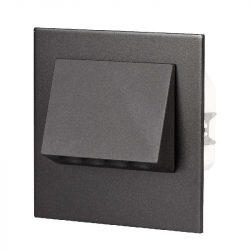 ZAMEL LEDES  Lépcső lámpa Beépíthető NAVI 230V Fekete keret Hideg fehér