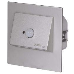 ZAMEL LEDES  Lépcső lámpa Beépíthető NAVI 230V Alumínium keret Hideg fehér Beépített érzékelővel