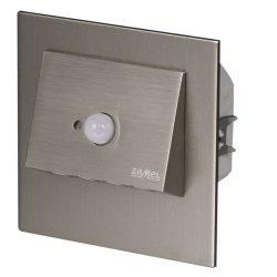 ZAMEL LEDES  Lépcső lámpa Beépíthető NAVI 230V Inox keret Hideg fehér Beépített érzékelővel