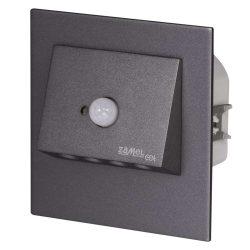 ZAMEL LEDES  Lépcső lámpa Beépíthető NAVI 230V Grafit keret Hideg fehér Beépített érzékelővel