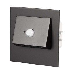 ZAMEL LEDES  Lépcső lámpa Beépíthető NAVI 230V Fekete keret Hideg fehér Beépített érzékelővel