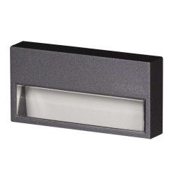 ZAMEL LEDES  Lépcső lámpa SONA 14V Grafit keret nélkül Meleg fehér