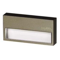 ZAMEL LEDES  Lépcső lámpa SONA 14V Bronz keret nélküli Meleg fehér