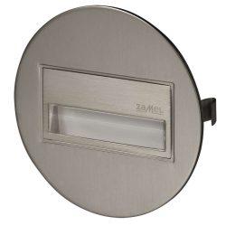 ZAMEL LEDES  Lépcső lámpa Beépíthető SONA 14V Inox keret Hideg fehér