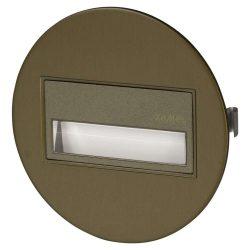 ZAMEL LEDES  Lépcső lámpa Beépíthető SONA 14V Bronz keret Hideg fehér
