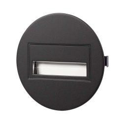 ZAMEL LEDES  Lépcső lámpa Beépíthető SONA 14V Fekete keret Hideg fehér