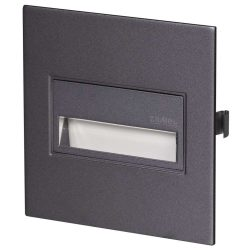 ZAMEL LEDES  Lépcső lámpa Beépíthető SONA 14V Grafit keret Hideg fehér