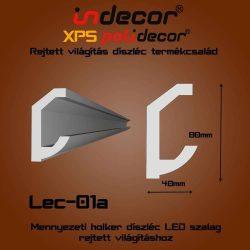 Lec-01A Mennyezeti rejtett világítás díszléc