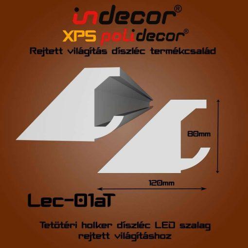 Indecor® Lec-01AT Tetőtéri rejtett világítás díszléc 80x123 (01/A-T)